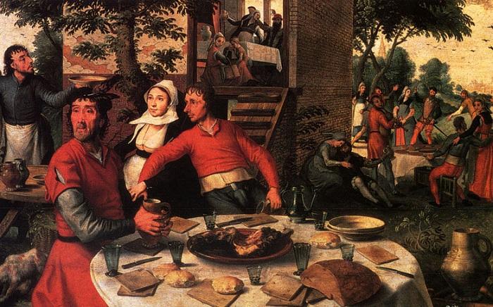 Крестьянский праздник. Питер Артсен, 1551 год. | Фото: ru.wahooart.com.